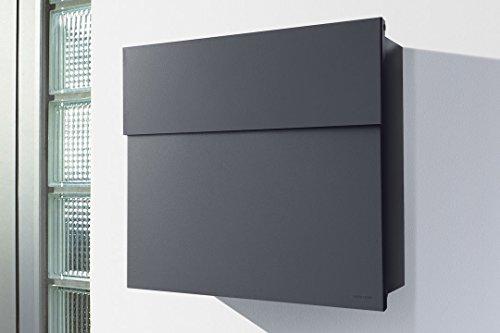 Radius Briefkasten Letterman 4 anthrazitgrau RAL 7016 Wandbriefkasten grau