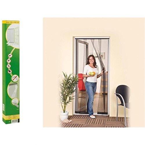 Easy life Insektenschutz Tür Vorhang Polyester Lamellenvorhang mit PVC Klemmleiste Fliegenvorhang, 125 x 240 cm, Schwarz