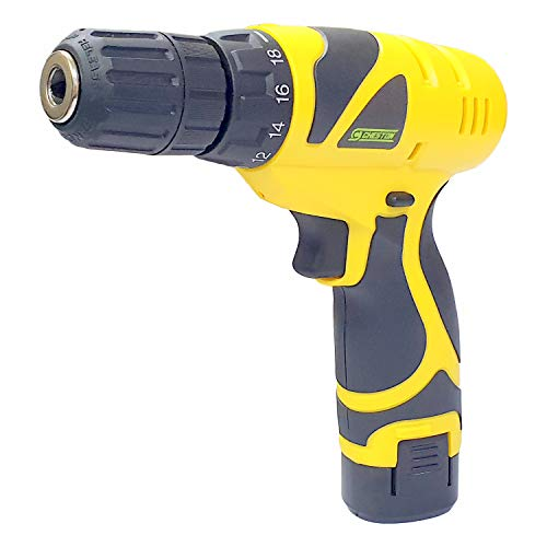 Cheston Plastic Cordless Drill Screw Driver 10mm Keyless Chuck 12V with One Battery