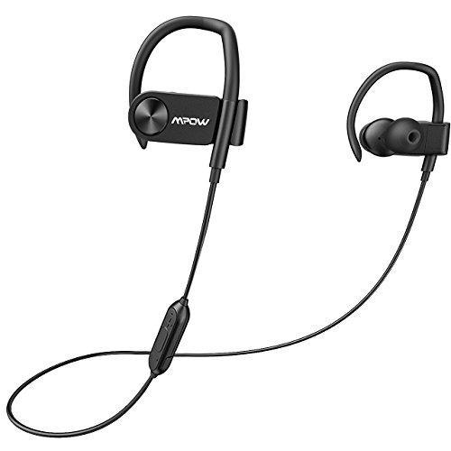 Mpow Bluetooth Kopfhörer, IPX7 Wasserdicht Sportkopfhörer Bluetooth mit 16 Stunden Spielzeit, 4.1 Wireless Bluetooth In Ear Headset Stereo, Sport Ohrhörer mit Mikrofon, CVC 6.0 Noise Cancelling für iPhone Android Samsung iPad Huawei HTC usw