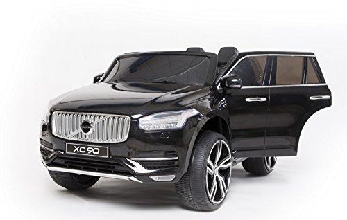 #Volvo XC90 Elektrisches Auto für Kinder, Schwarz, 2.4Ghz Fernbedienung, 2 MOTOREN, Zweisitzer in Leder, MP3 USB SD, Original-Lizenz#