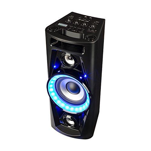 auna UltraSonic Pulse V6-40 - Altoparlante Karaoke, Woofer da 5,5'(14 cm), Woofer da 2 x 1,7' (4,5...