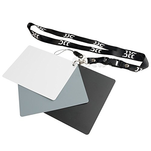 JJC GC-3 Set of 3 Digital Grey white balance card , waterproof , portable With strap and detachable lanyard