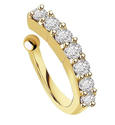 VAMA FASHIONS Gold Plated Maharashtrian Nath Clip on Combo Nose Ring Without Piercing for Women 7