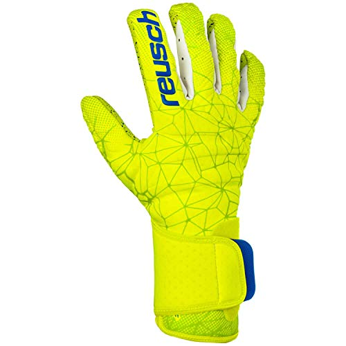 Reusch Pure Contact G3 Fusion - Guanti da Portiere da Uomo, Uomo, 3970900, Lime/Safety Yellow, 8.5