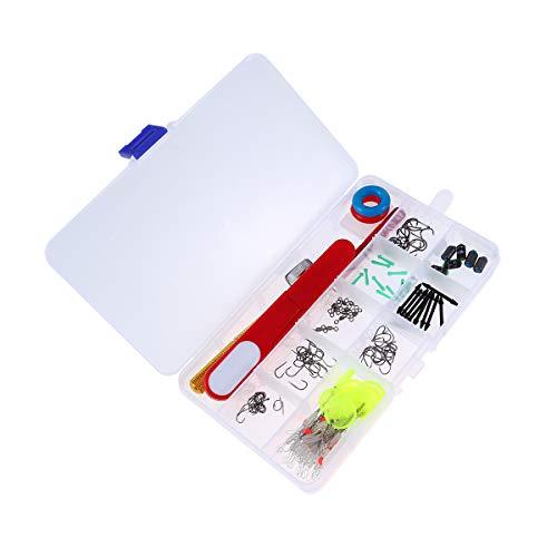 LIOOBO Kit di accessori per la pesca Incluso Ami e pesi per la pesca Forbici Lavelli Lavello Set di attrezzi da pesca Set di attrezzi da pesca con scatola