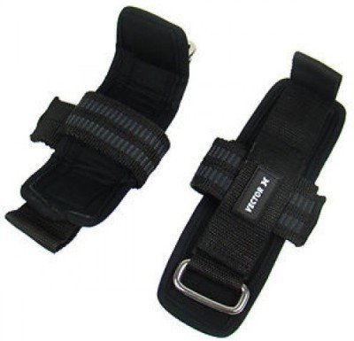 Vector X Wls Weight Lifting Straps (Black)