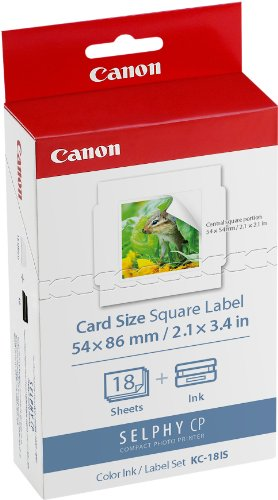 #Canon KC-18 IS 5,4 x 5,4 cm Sticker-Papier für Selphy Drucker#