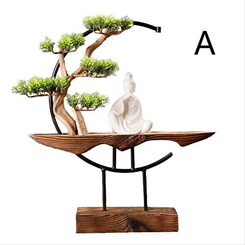 YSSZH Stufa A Incenso, Mobile TV Ornamenti Zen Artigianato Decorativo Sala da Pranzo in Ceramica...