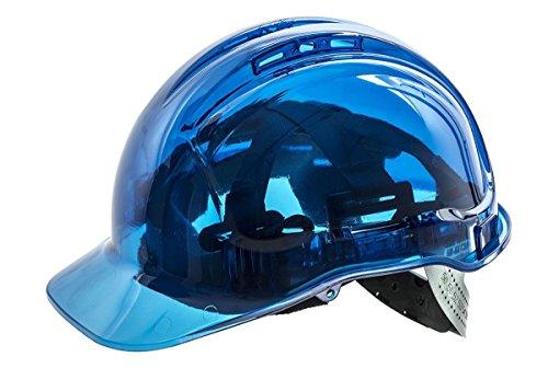 Portwest pv64blu serie PV64pico vista trinquete translúcido duro sombrero casco, Regular, azul