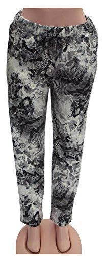 Xpression Fashion - Pantalón - para mujer Estampado De Serpiente 48