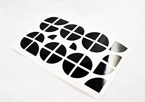 Emblem Ecken Aufkleber Sticker Motorhaube Felgen schwarz glanz