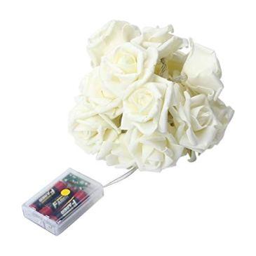 HUYURI Simulation Rose Led String Guirlande Lumineuse De NoëL Mariage De FéE De Fleur De Rose De Led 20