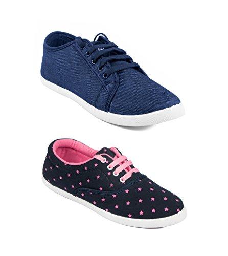 Asian Shoes Women's Mesh Combo Of 2 Casual Shoes 4
