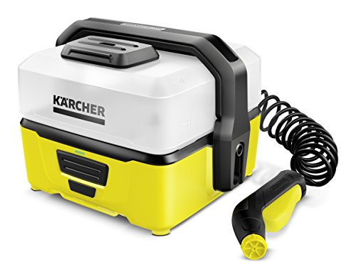 Kärcher OC3 Portable Cleaner - This one is for our adventurous people. Being outdoors can be messy and sometimes a bit of cleaning up is unavoidable. Weighing 2.17 kg, the unit is light enough to carry with you to camping if you would like. It is a 5 bar unit thus it will be suitable for light tasks like removing fresh mud from your wellies or bicycle tires. If you need a simple unit even to carry out domestic applications, this will work just fine.