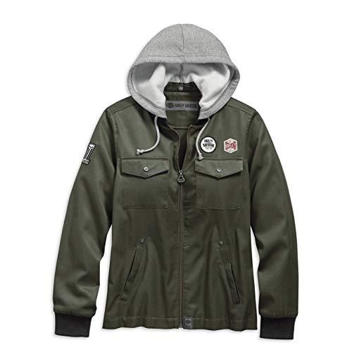 HARLEY-DAVIDSON Women's Hooded Bomber Jacket - 98597-19VW