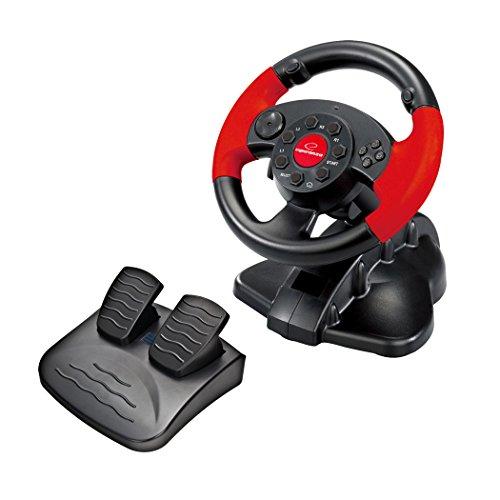 Esperanza EG103 Gaming Lenkrad PC/PSX/PS2/PS3 USB High Octane Schwarz/Rot