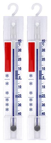 Lantelme 3292 Set di 2 termometri per frigorifero, refrigeratore, ghiacciaia/Analogico, / - 40 °C