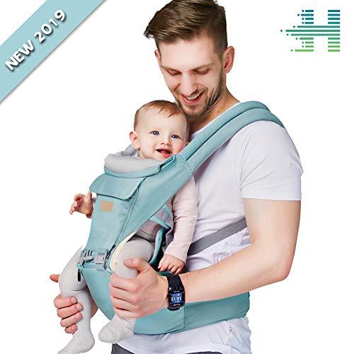 HANLINE LittleCuddles - Marsupio neonati - Zaino porta bambino ergonomico 3 in 1 [3 colori] -...