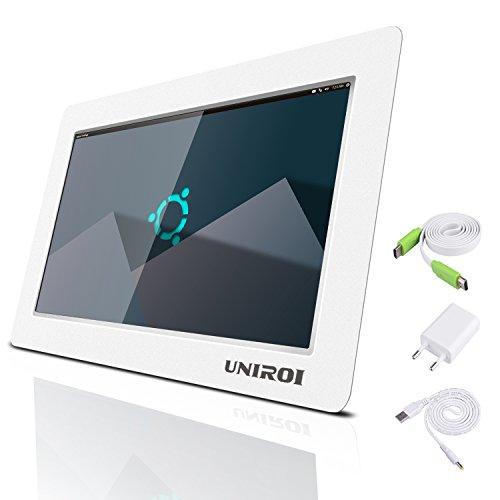 UNIROI 10 Pollici Monitor HDMI per Raspberry Pi 1024 X 600 HD LCD Display con Ultra Slim Shell per Raspberry Pi 3 2 Modello B + 3B 2B B + A + A RPI Zero W UR101