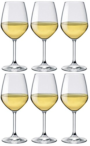 Bormioli Rocco 1318945 Confezione 6 Calici in Vetro Divino Vini Bianchi Cl44.5 Arredo Tavola, 1 cm
