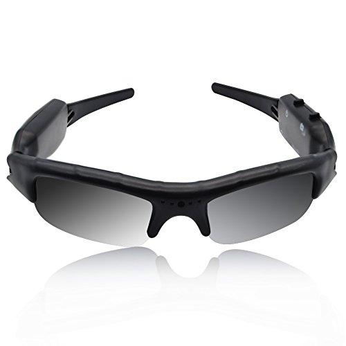 BeiLan Cámara de Gafas de Sol 480P DVR Grabadora de Vídeo con Cable USB y Ranura para Tarjetas SD para Caza Pesca Conducción Kayak Acampar Canotaje Rafting Viajar Deportes al Aire Libre