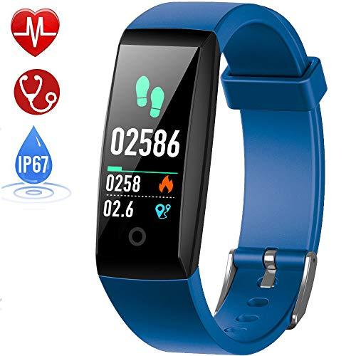 HETP Fitness Tracker Cardiofrequenzimetro, Orologio Fitness Impermeabile IP67 Activity Tracker GPS...
