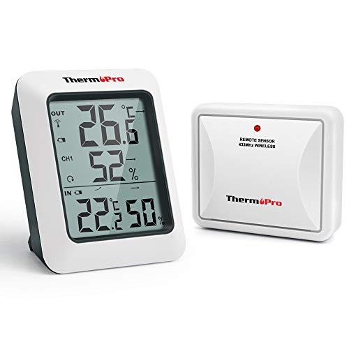 ThermoPro TP60S Termometro Igrometro da Interno Esterno Stazione Meteo Wireless Termoigrometro...