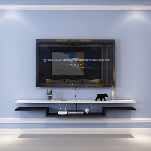 Scaffale Galleggiante Mensola a Muro Mensola TV a Parete Set Top Box Router Lettore Dvd mensola del...