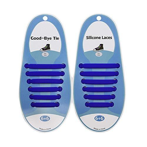 aa14c7b268369 Leezo Cordones elásticos de Silicona sin Lazo Fácil de jalar y Bloquear  Adultos