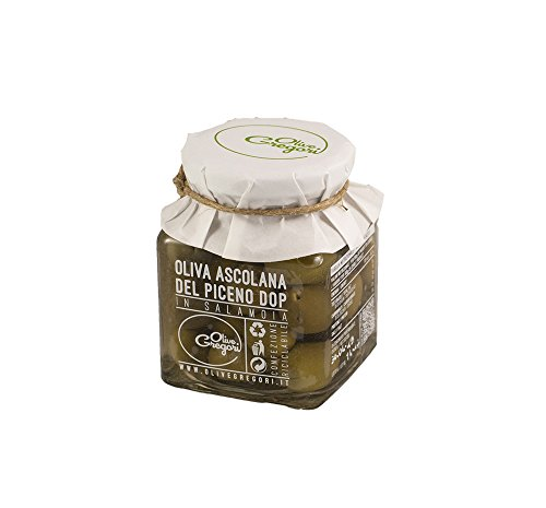 Oliva Ascolana del Piceno DOP in salamoia – vasetto 150 grammi peso netto sgocciolato