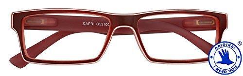I Need You Occhiali da Lettura Capri, Rosso, Diottria: +1.5-200 g