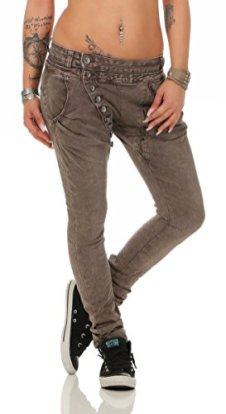 Fashion4Young-5857-MOZZAAR-Damen-Jeans-Hose-Rhrenjeans-Haremshose-Rhre-Damenjeans-Hftjeans-L-40-19-Cinder