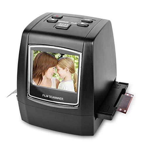 Scanner e digitalizzatore portatile ad alta risoluzione, da 22 megapixel, per diapositive e pellicole Super 8, diapositive e negativi da 35 mm, convertitore digitale per pellicole 110 e 126