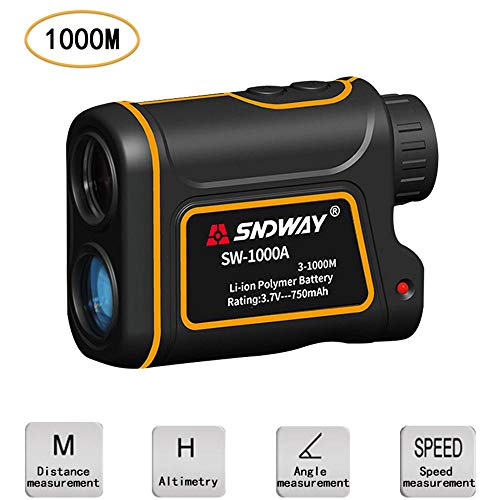 Womdee Telescope Rangefinder 1093.6 Yard with LCD Display, 7X Magnify Golf Rangefinder to Measure Distance, Speed, Angle & Height, IP54 Rangefinder for Golfing, Hunting, Engineering Survey