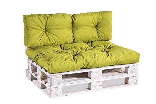Cuscino per bancale, Cuscini per Pallet Divani, Seduta, Schienale,Trapuntato PP (Schienale 120x40, Verde Limone)