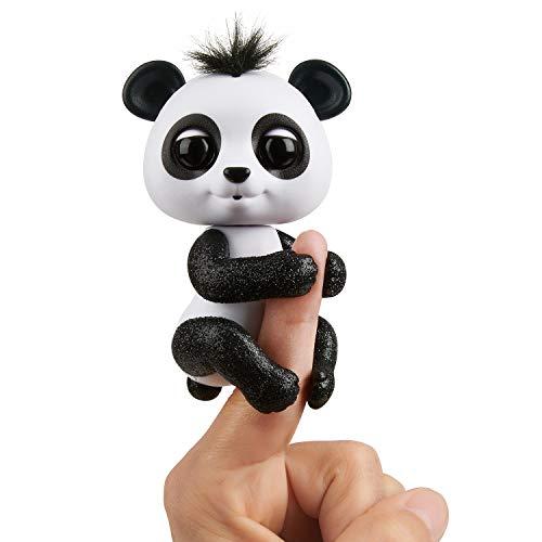 WowWee Fingerlings Panda schwarz und weiß Drew - 3564 / interaktives Spielzeug, reagiert auf Geräusche, Bewegungen und Berührungen