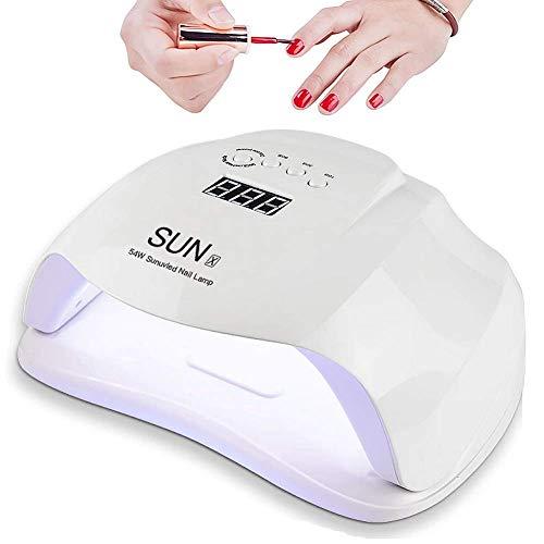 Lampada LED Unghie UV per Gel Unghie Semipermanente 54W Automatico Sensore, Unghie Gel...