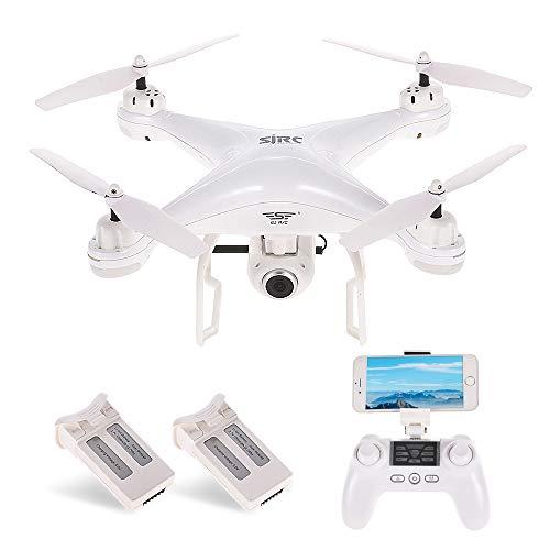 SJ R/C / C S20W1080P (GPS) FPV Regolabile 1080P HD Camera Wide Angle RTF Doppio GPS Posizionamento Altitude Hold Drone w / Due batterie (Nero) (S20W Bianca)
