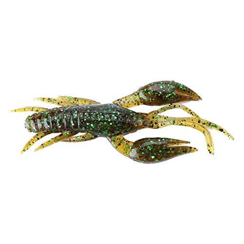 Asixx Esche da Pesca, Accessori Pesca 4pcs 5 Colori Silicone Soft Fishing Crawfish Funzionante Ottimo per l'utilizzo in Texas Rig o Come Trailer for A Jig (1#)