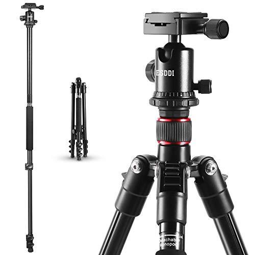 Treppiedi Fotocamera - ESDDI 162cm Treppiede Alluminio Cavalletto Fotografico Con Monopiede e 360°...