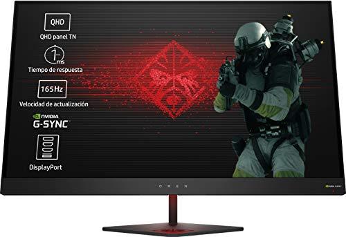 HP OMEN 27 - Monitor gaming de 27 pulgadas G-sync + altura ajustable (QHD,...