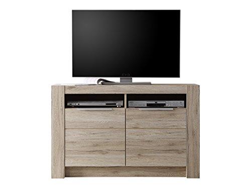 trendteam 131786690, Mobile TV/HiFi Cougar in finto legno di quercia San Remo chiaro, 113 x 72 x 40...