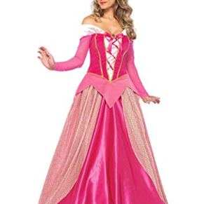 Leg Avenue-Pink Princess Aurora Fancy Dress Costume (Small/UK 6-8, 2-Piece) Mujer, Color Rosa, (EUR34-36) (85612)