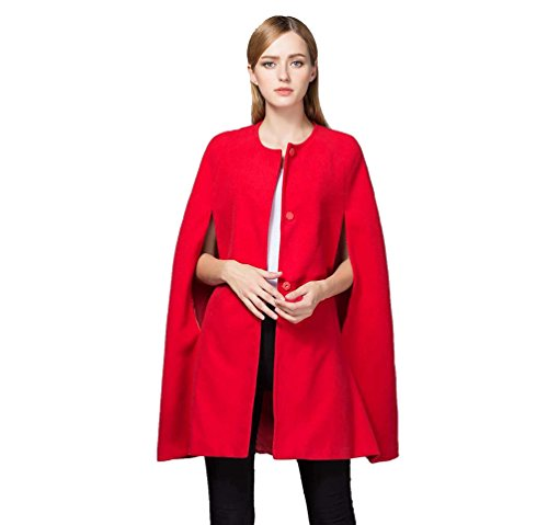 ZKOO Donne Cappotto Donne Sciolto Lungo Mantello Blazer Coat Trench Outfit Giacca Cardigan Rosso...