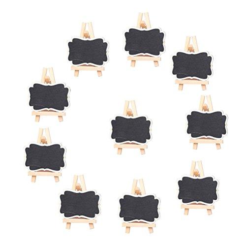 NUOLUX Mini lavagna Lavagnette messaggi per numero tavolo per feste e matrimoni segnaposto...