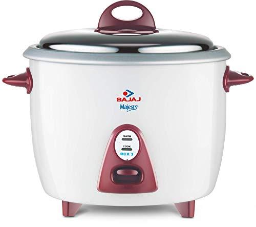 Bajaj Majesty New RCX 3 350-Watt Multifunction Rice Cooker (White/Pink)