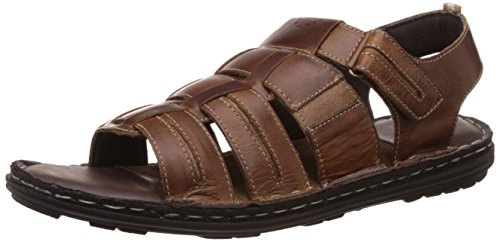 Redtape Men's Brown Leather Sandals and Floaters - 7 UK/India (41 EU)