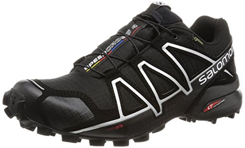 Salomon Speedcross 4 GTX, Scarpe da Trail Running Impermeabili Uomo, Nero Black/Silver Metallic-X),...
