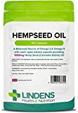 Lindens Hempseed Oil 1000mg Capsules | 100 Pack | UK Manufacturer